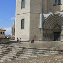 Fachada de la catedral de Girona