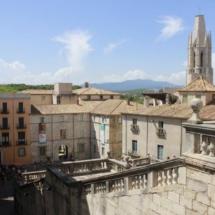 Vistas desde la catedral de Girona