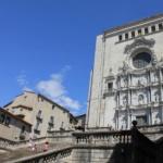 La catedral de Girona, con niños