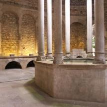 Interior de los Baños Árabes de Girona