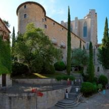 Vista exterior de los Baños Árabes de Girona