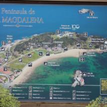 Plano de la Península de la Magdalena, en Santander