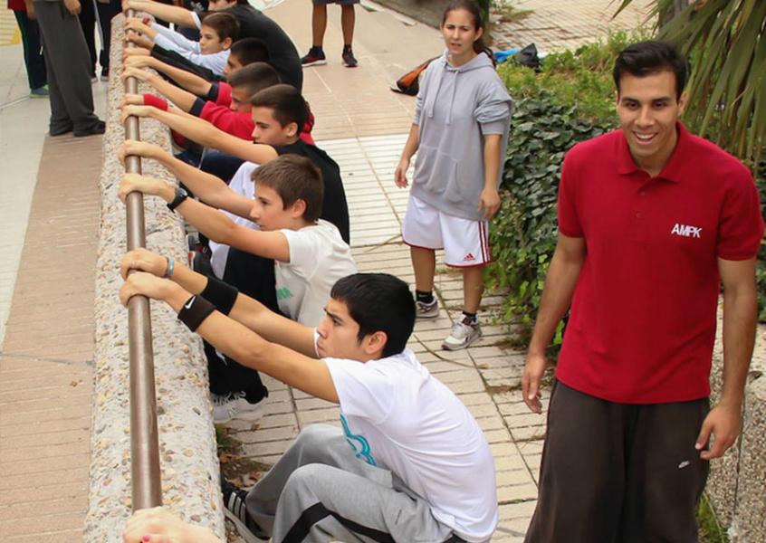 Clase de parkour para niños y niñas en Madrid