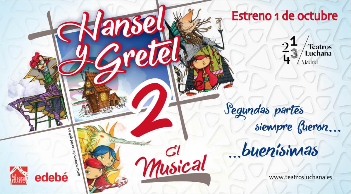 Cartel del musical infantil 'Hansel y Gretel'