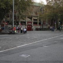 Entrada a la Plaza de Toros de Pamplona