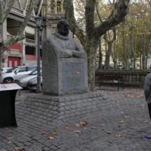Estatua de Hemingway en Pamplona