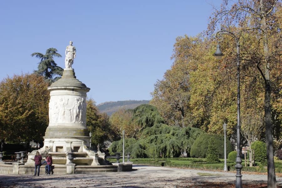 Monumento a Gayarre, en el Parque de la Taconera, Pamplona