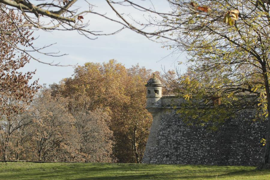 Vistas de las murallas de Pamplona
