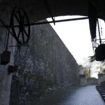 Detalle de las murallas de Pamplona
