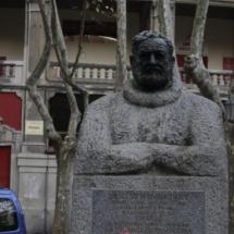 Monumento a Ernest Hemingway, en Pamplona