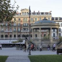 Kiosco de música de la Plaza del Castillo de Pamplona