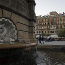 Fuente de la Plaza del Castillo de Pamplona