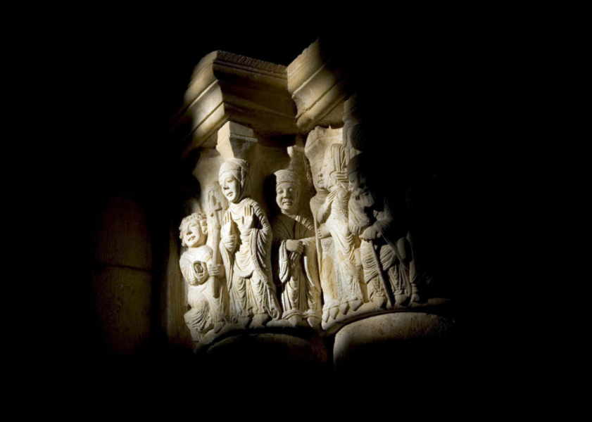 Escena de los Reyes Magos en San Juan de Ortega
