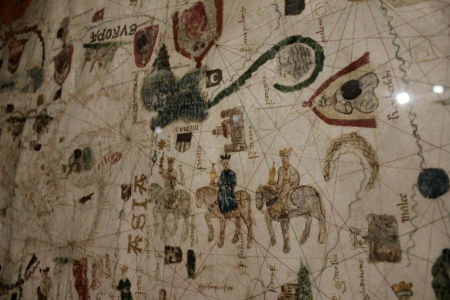 Los Reyes Magos en el mapamundi de Juan de la Cosa