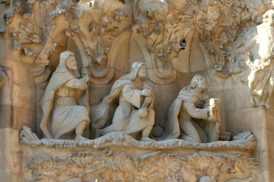 Los Reyes Magos en la Sagrada Familia de Barcelona