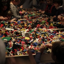 Taller de Lego en la exposición 'The Art of the Brick: DC Super Heroes'