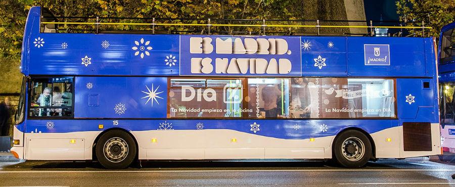 Naviluz: el autobús de Navidad en Madrid