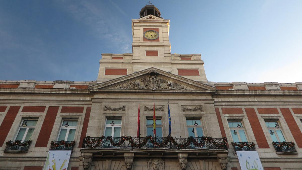 Edificio del reloj de la Puerta del Sol de Madrid