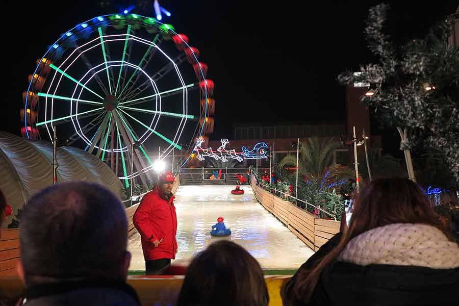 Navidad en Torrejón de Ardoz tobogán helado