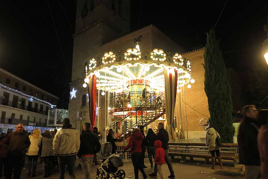 Navidad en Torrejón: tiovivo de dos pisos