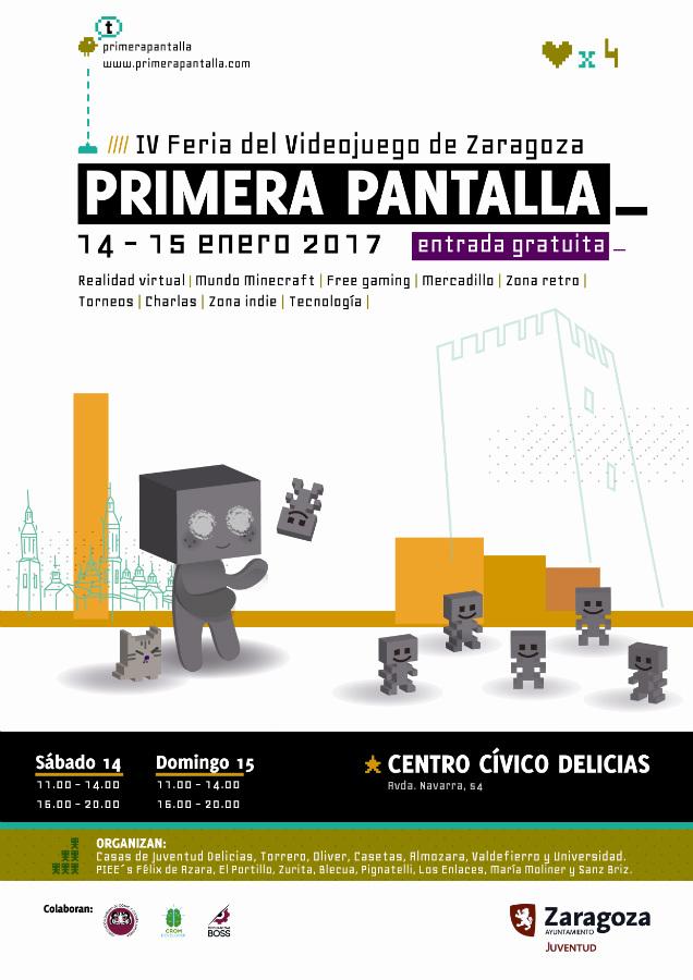 Primera Pantalla 2017, Feria del Videojuego en Zaragoza