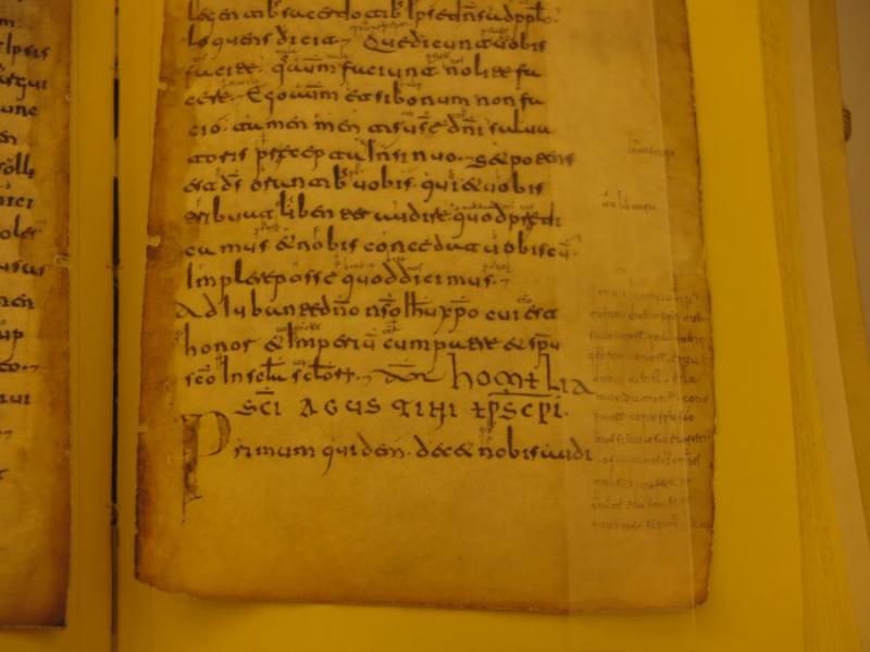 Detalle de las glosas de San Millán de la Cogolla