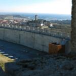Vista de un tramo de la Muralla de Cuéllar