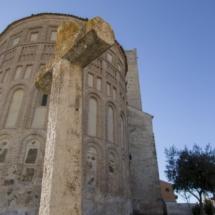 Ábside de la Iglesia de San Esteban, en Cuéllar