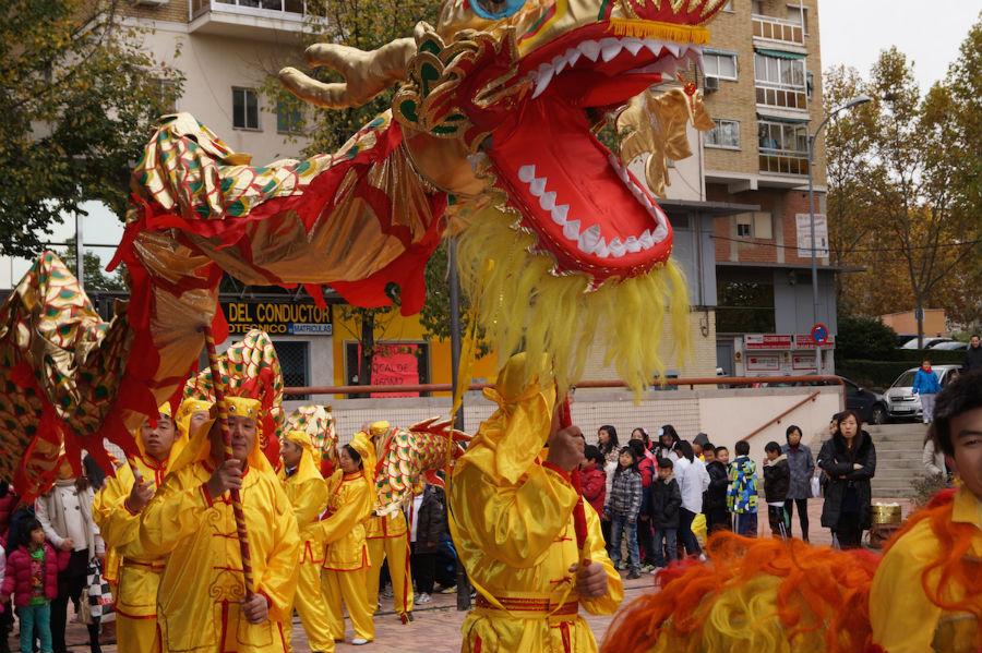 Pasacalles del Año Nuevo Chino en Madrid
