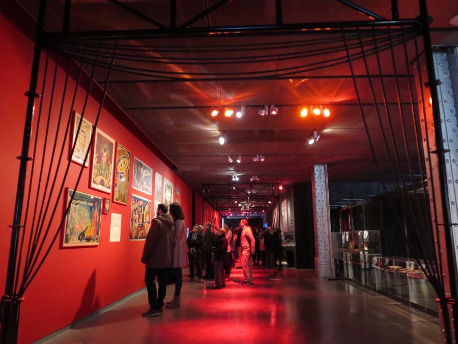 Sala de la exposición sobre Houdini