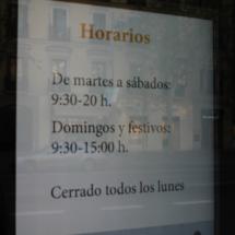 Norarios del Museo Arqueológico Nacional
