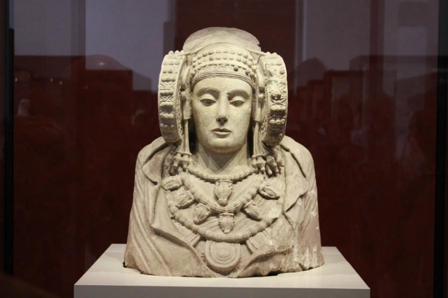 Dama de Elche, en el Museo Arqueológico Nacional