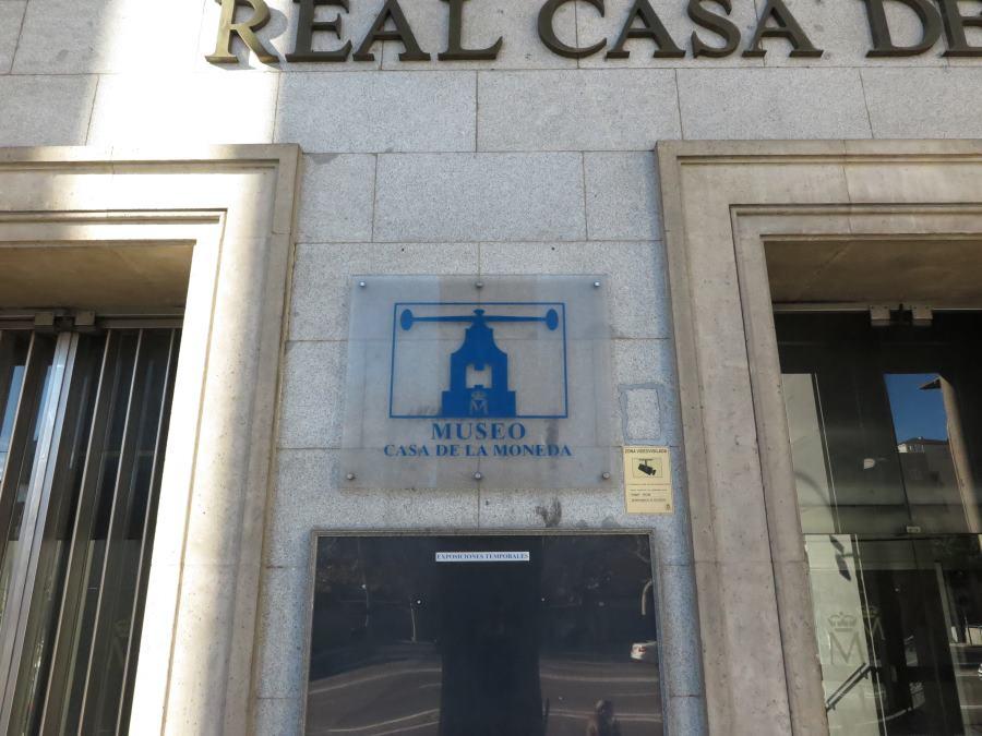 Fachada del Museo Casa de la Moneda, en Madrid