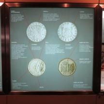 Muestra de monedas en el Museo Casa de la Moneda, en Madrid
