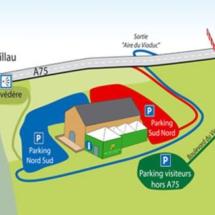 Plano del área turística de Millau