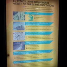 Cartel explicativo en las cuevas de Roquefort