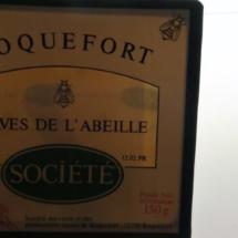 Etiqueta de queso de Roquefort