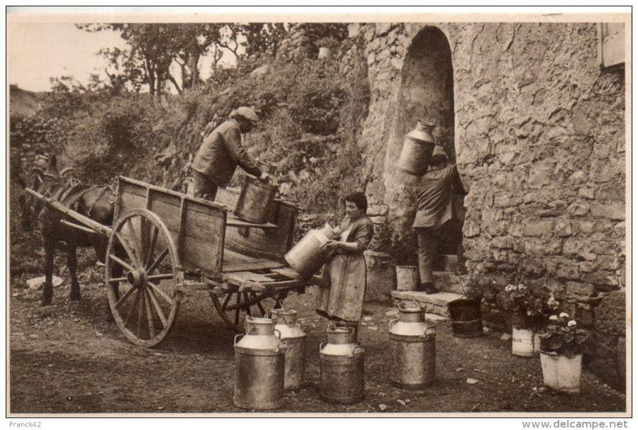 Foto de archivo de la fábrica de quesos de Roquefort Société