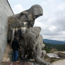 Escultura de La Piedad, en el Valle de los Caídos