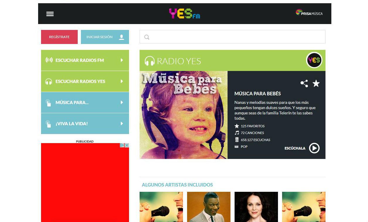 Canal de música para bebés en Yes.fm