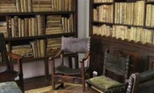Biblioteca de la casa de un escritor del Siglo de Oro