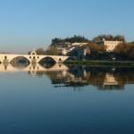 Puente de Avignon y ciudad