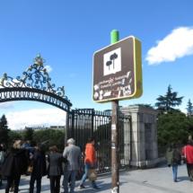 Puerta de acceso a los Jardines de Sabatini