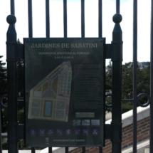 Cartel informativo de los Jardines de Sabatini