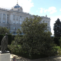 Los Jardines de Sabatini están junto al Palacio Real