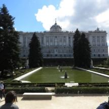 Jardines de Sabatini, con el Palacio Real al fondo