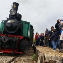 Viajamos en un tren de vapor antiguo, en Arganda del Rey