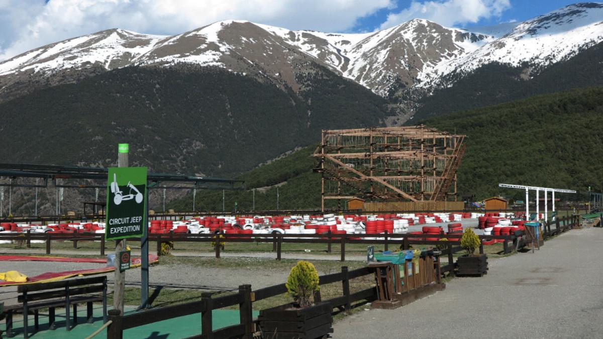 Instalaciones de Naturlandia, un parque temático de la Naturaleza en Andorra