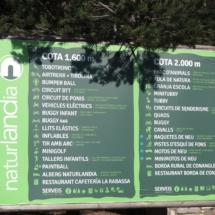 Cartel informativo de Naturlandia