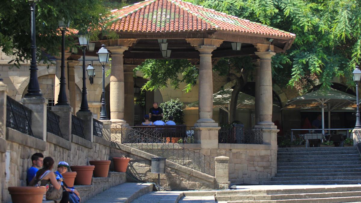 Plaza del Poble Espanyol, en Barcelona
